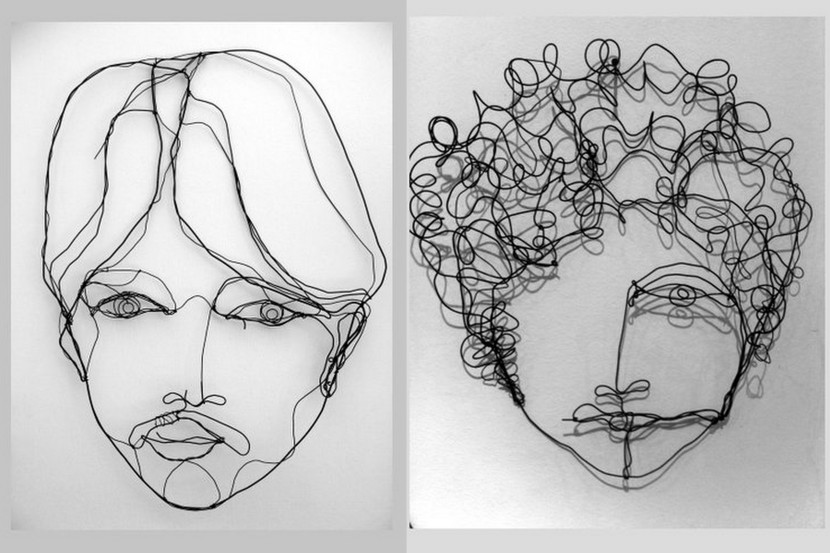 Yossi Peled Wire Sculptures