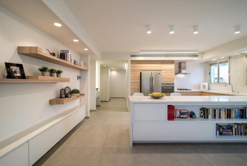 21 חומריות המטבח חוזרת על עצמה גם במוטיבים נוספים בחלל הציבורי