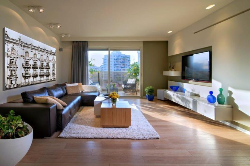 עיצוב סלון, עיצוב דירת קבלן