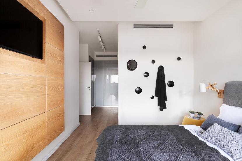 עיצוב פנים עיצוב חדר שינה הורים BLV Design/Architecture
