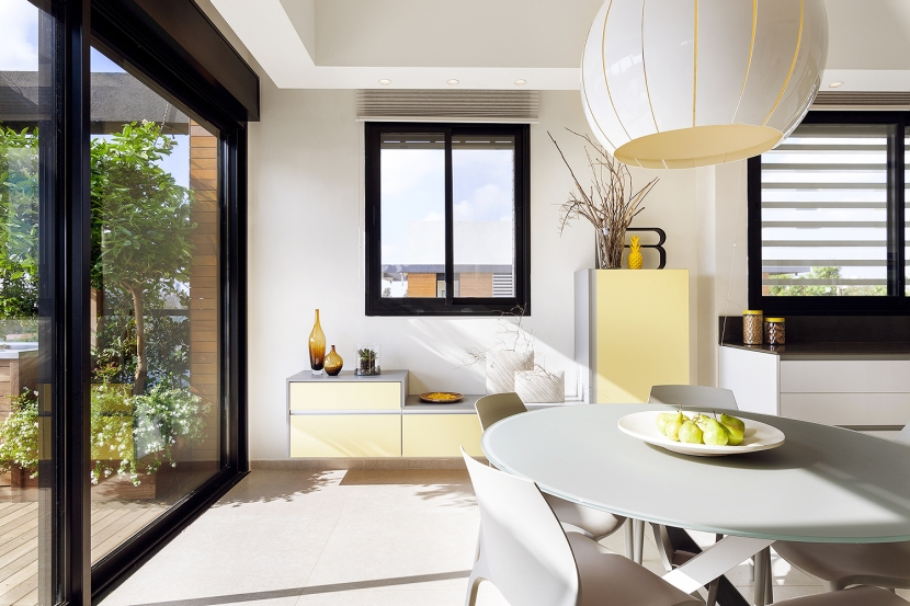 תכנון ועיצוב מטבח ופינת אוכל BLV Design/Architecture