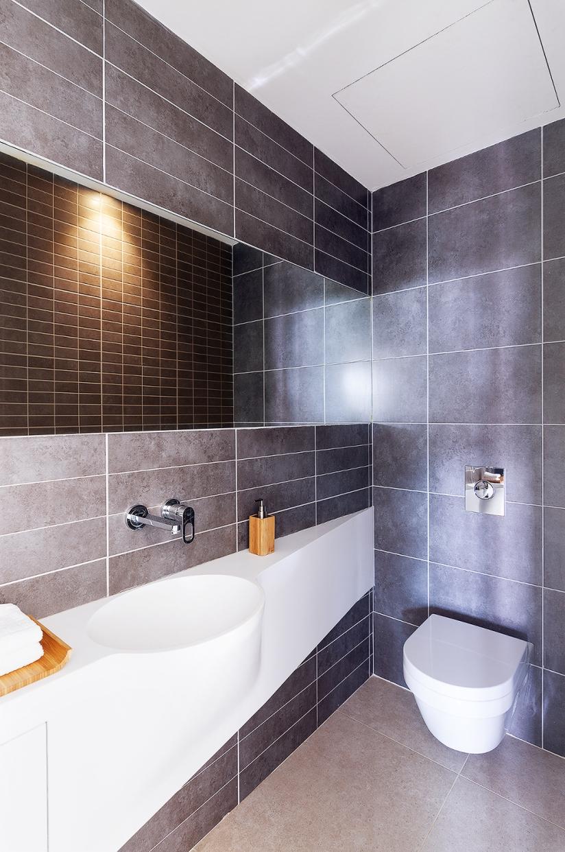 עיצוב חדרי רחצה, עיצוב שירותי אורחים, משטח קוריאן